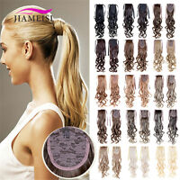 """22"""" 100g Synthetic Curly Wave Ponytail Hair Extensions Wrap Around Hair Pieces"""