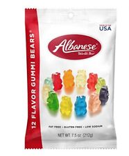 Albanese Candy, 12 Flavor Gummi Bears, 4 PACK OF 7.5-Ounce Bags - Gluten Free