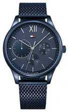 Tommy Hilfiger Correa Azul De Malla De Marea De 1791421 Relojes