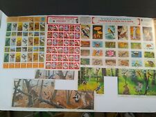 Large Lot 1970's National Wildlife Federation Conservation Stamps Mixed Lot Sets
