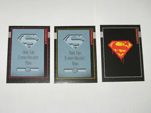 1992 Doomsday The Death of Superman SkyBox Promo 3 Card #0 #00 #000 set!