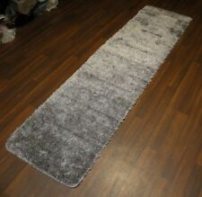 Romany Washables Runner/Mats 60x220cm Aproxx 7ft Sparkle Greys /Silver Non Slip