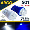501 T10 Sidelight Interior 7 Led Xenon W5w Side Light Number Plate Wedge Bulbs
