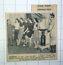 1939 Members On The Lux Lovelies Company Stage Show Preparations