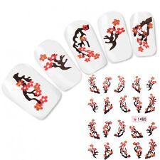 Tattoo Nail Art Japan Glitzer Kirschblüten Aufkleber Nagel Sticker Neu!
