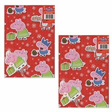 Peppa Pig Christmas Limited Edition Gift Wrap Double Pack NEW