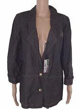 m grazia amoretti giacca donna jeans grigio made italy taglia it 46 xl large