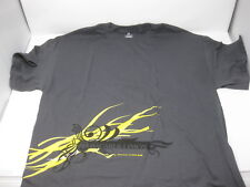 Bacardi Limon Grey Grat T Shirt XL Adult XL T-Shirt New Black & Yellow Promo
