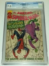 AMAZING SPIDERMAN #6 CGC 7.5 OFF WHITE TO WHITE PAGES MARVEL 1ST LIZARD (SA)