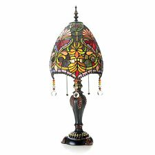 """Tiffany-Style 31"""" Family Favorite Stained Glass Beaded Table Lamp Brianne New"""