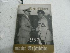 ORIGINAL & GENUINE WW2 GERMAN HITLER MINIATURE PROPAGANDA BOOK--1937