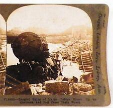 World War I Stereoview Ruins Marne Bridge Red Cross Train Wreck Keystone View Co