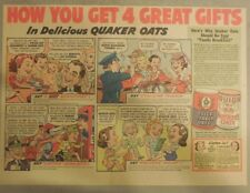 "Quaker Cereal Ad: ""How To Get 4 Great Gifts!"" 1940's Size: 11 x 15 inches"