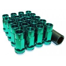 MUTEKI SR48 SUPER TUNER LUG NUTS EXTENDED OPEN-END HONDA ACURA 12X1.5 GREEN X20