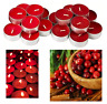 Tea light Spiced Berries Scented Candle Red Wax 3.5hr Burn 38mm Aroma Restaurant