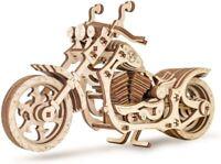 CRUISER Motorbike Working Wooden Rubber Band 3D Laser Cut Model Kit Eco-Wood-Art
