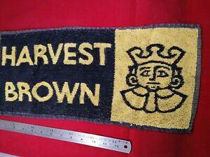 Harvest Brown Ale bar towel vintage. ManCave home bar.