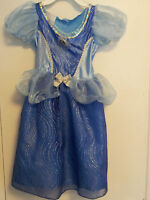 Light-up Disney Princess Cinderella Costume Dress Child Size 4-6X Blue Sparkly