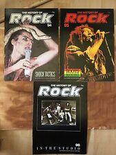 History Of Rock x 3 mags  94-96 Kiss Alice Cooper New York Dolls Bob Marley 10cc