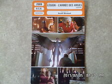 CARTE FICHE CINEMA 2009 LEGION L'ARMEE DES ANGES Paul Bettany Lucas Black