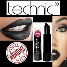 Technic Lápiz Labial Mate Negro Mate Halloween Gótico Maquillaje Emo Vamp