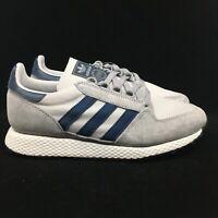 Adidas Originals Forest Grove Men's Sizes Grey Navy Sneakers D96631