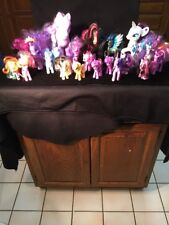 Large My Little Pony LOT OF 19-LARGE TO SMALL-VINYL & PLUSH  COLLECTABLE MIXTURE