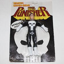 Punisher Vintage Marvel Super Hero Bendable Figure '89 JusToys #12059 Daredevil