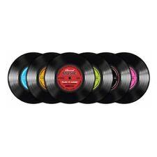 Untersetzer Vinyl Schallplatte Record Music 6er Set / Durchmesser 9,5cm / 101193