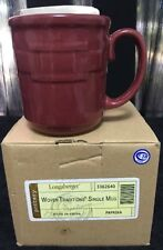 NEW IN BOX Longaberger Pottery PAPRIKA Woven Traditions Single Mug 3362640