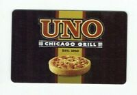 UNO Gift Card Pizza / Chicago Grill / Deep Dish / Restaurant / 2008 - No Value