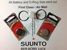 2 Energizer battery & O-ring set Suunto Vyper, Vytec, Gekko,Zoop & HelO2 +grease
