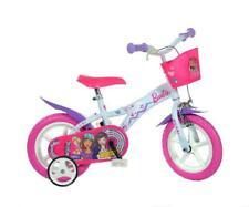 "Dino Barbie Adjustable Pink Kids Girls Bike Bicycle 12"" Mag EVA Wheel 612GL-BA"