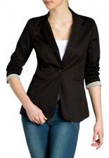 CASPAR BZR003 Blazer Verano Mujer Chaqueta de Traje Mangas 3/4 Slim Fit Algodón