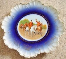 Antique Victoria Austria chasse porcelaine Chargeur Plaque