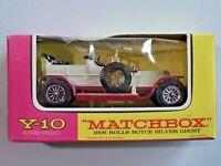 Matchbox Models of Yesteryear Y-10 '06 Rolls Royce Silver Ghost Mint in Box 1:51