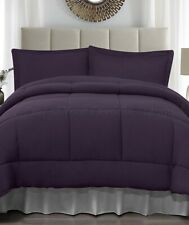 Purple King Size Jersey Comforter & Pillow Sham Bed 3-Pc Set
