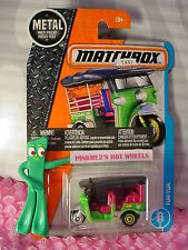 2017 MATCHBOX #6 TUK-TUK☆Green/Pink;w/o Thailand ;3-wheeler Taxi☆Adventure City
