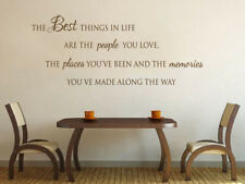 "Family Wall Quote ""Best Things in Life"" Vinyl Sticker Wall Art Mural Decal"
