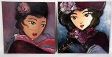 """CHRISK.2 Tableaux Femmes de l'hiver """"La dame de l'hiver et la femme de l'hiver"""""""