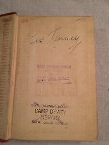 Gene Tunney Signed Book - Arms for Living (1941)