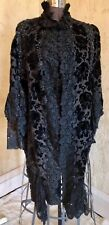 Lovely Antique Victorian Black Beaded Dolman ~Mantle~Cape With Lace Trim