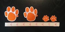 Auburn Tigers Embroidered Iron-On Logo Patches - Lot Of 4 - Free USA Shipping