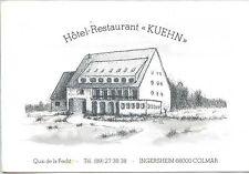 "CP 68 HAUT-RHIN - Ingersheim - Colmar - Hôtel-Restaurant ""Kuehn"""