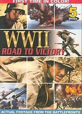 World War 2 WWII Road To Victory 5 DVD Set Color Actual Footage