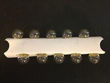 10 Chevy 57 Clear Mini 12V Clock Instrument Panel Glove Box Lamp Light Bulbs NOS