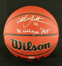 Christian Laettner SIGNED I/O NCAA Basketball + 92 POY Duke PSA/DNA AUTOGRAPHED