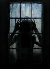 Framed Print - Wicked Child Monster Spying through Window (Picture Poster Art)