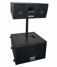 """Professional Line Array Active 2000W 10"""" Base with Dual 6"""" Loudspeaker System"""