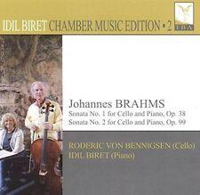 JOHANNES BRAHMS: SONATA NO. 1 FOR CELLO AND PIANO, OP. 38; SONATA NO. 2 FOR CELL